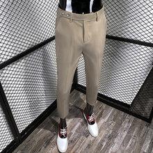 Мужские деловые Брюки s, классические брюки для свадебного костюма, повседневные облегающие брюки, костюм Homme, лето 2020(Китай)