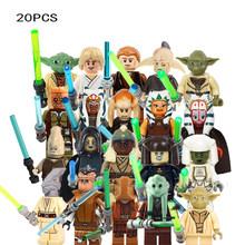 Новинка, 20 шт./лот, Звездные войны, Мстители, клон, штурмовик, Stroom Mini Sith Jedie Knight, фигурки, совместимые строительные блоки, KidsToys(China)
