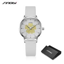 Sinobi Beauty Flower дизайнерские женские часы Топ бренд белый ремешок Женские кварцевые наручные часы элегантные модные женские часы AAAAA 19(China)