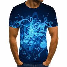 Мужская футболка с короткими рукавами, Готическая футболка с 3D-принтом гитары, с короткими рукавами, в стиле аниме, новинка 2020(Китай)