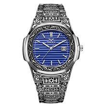 ONOLA винтажные золотые деловые часы мужские 2020 модные повседневные кварцевые наручные часы золотые роскошные классические дизайнерские муж...(Китай)