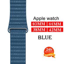 Ремешок для Apple Watch Band 44 мм 40 мм Iwatch Band 42 мм 38 мм браслет из натуральной кожи с магнитной пряжкой Apple Watch 5 4 3 2(Китай)