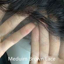 На палочке 13x4 Синтетические волосы на кружеве парики из натуральных волос на кружевной малазийские прямые Синтетические волосы на кружеве ...(Китай)