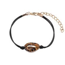 Женский браслет на ногу с цветочным принтом, регулируемый браслет из ракушек в богемном стиле, подарочное ювелирное изделие для девочек(Китай)
