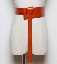 Женский кожаный пояс WKOUD EAM, блестящий простой пояс для свадебного платья, модель PE075, 2020(China)