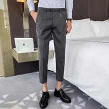 Классические мужские костюмные брюки, повседневные деловые брюки с вышивкой для свадьбы, офиса, брюки, 2020(Китай)