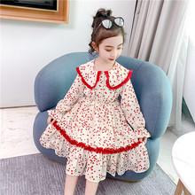 2020 летние платья принцессы для маленьких девочек, одежда с длинными рукавами, сетчатая вышивка, цветы, наряды для свадебной вечеринки 5, 6, 7, 8,...(Китай)