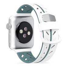 Спортивный силиконовый ремешок для apple watch 5 4 3 2 42 мм 38 мм Смарт-часы для мужчин и женщин браслет для iWatch серии 5 4 40 мм 44 мм(Китай)