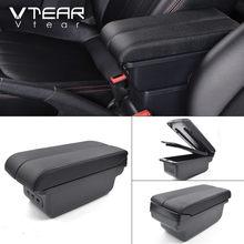 Автомобильный подлокотник Vtear, кожаный подлокотник для Mazda 2 Mazda2 demio, USB ящик для хранения с центральной приставкой, 2016, 19(Китай)