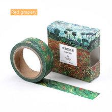 Бумажная клейкая лента для рисования Ван Гоа, 15 мм, звездная ночь, клейкая декоративная лента для маскировки, школьный журнал, офисные накле...(Китай)