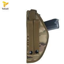 Тактическая нейлоновая кобура Totrait для страйкбола, подходит для правшей, поясная кобура, ремень, простая ткань Оксфорд, чехол для пистолета(Китай)