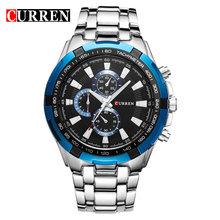CURREN Мужские кварцевые часы Роскошные наручные часы модные водонепроницаемые часы из нержавеющей стали мужские повседневные часы Relogio Masculino(Китай)
