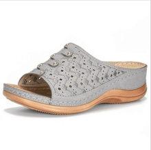 Fujin/женские шлепанцы; Сезон лето; Модель 2020 года; Модные туфли на толстой танкетке; Смешанные цвета; Повседневная дышащая женская обувь(Китай)
