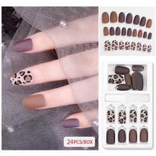 Модные популярные 30 шт женские красивые накладные ногти сексуальные съемные многоразовые палочки для ногтей прессованные накладные ногти ...(Китай)