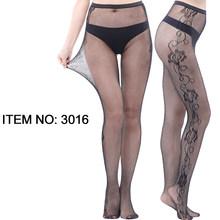 HSS полые женские колготки сексуальные женские чулки сетчатые татуировки жаккардовые высокие ажурные прозрачные черные кружевные колготки ...(Китай)