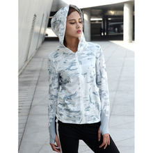 Наружное быстросохнущее дышащее тактическое пальто с капюшоном и длинными рукавами для женщин-(снежный камуфляж) L(Китай)