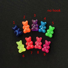20 шт., 17*10 мм, очаровательные кабошоны из смолы, блестящая конфетная подвеска для ключей, на шею, аксессуары для самостоятельного изготовлени...(Китай)