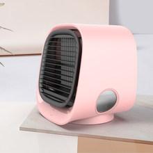 Мини USB охладитель воздуха вентилятор кондиционер Светильник Настольный вентилятор охлаждения воздуха увлажнитель очиститель с светодиод...(Китай)
