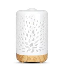 Керамический ультразвуковой аромадиффузор увлажнитель воздуха очиститель распылитель эфирное масло диффузор с 7 цветными ночными лампами...(Китай)