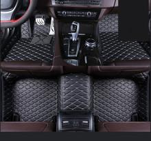 Автомобильный коврик для ног из искусственной кожи для Toyota Sequoia аксессуары для стайлинга автомобилей(China)
