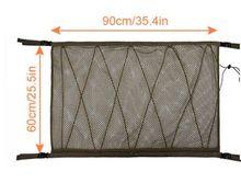 Портативная Автомобильная потолочная сумка для хранения, сетчатая карманная крыша, внутренняя грузовая сетка, сумка для хранения багажник...(Китай)