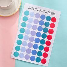 1 лист цветных круглых стикеров, милая декоративная наклейка в горошек, дневник в стиле Скрапбукинг, корейские Канцтовары(Китай)