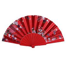 Новый китайский стиль ручной складной танцевальный вентилятор для свадебной вечеринки, кружевной Шелковый складной ручной вентилятор с цв...(Китай)