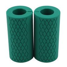1 пара гантелей толстые ручки для тяжелой атлетики поддержка кремния Противоскользящий защитный коврик бодибилдинг фитнес-оборудование(Китай)
