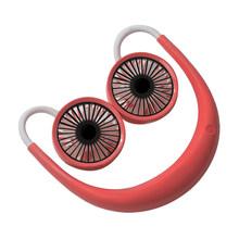 Портативный подвесной вентилятор для шеи мини-кондиционер с воздушным охлаждением USB Перезаряжаемый вентилятор Настольный двойной шейный ...(Китай)