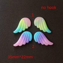 5 пар 35*22 мм милые блестящие подвески Крылья Ангела из смолы Кабошоны Подвески для Подвеска для ключей, аксессуары для самостоятельного изго...(Китай)