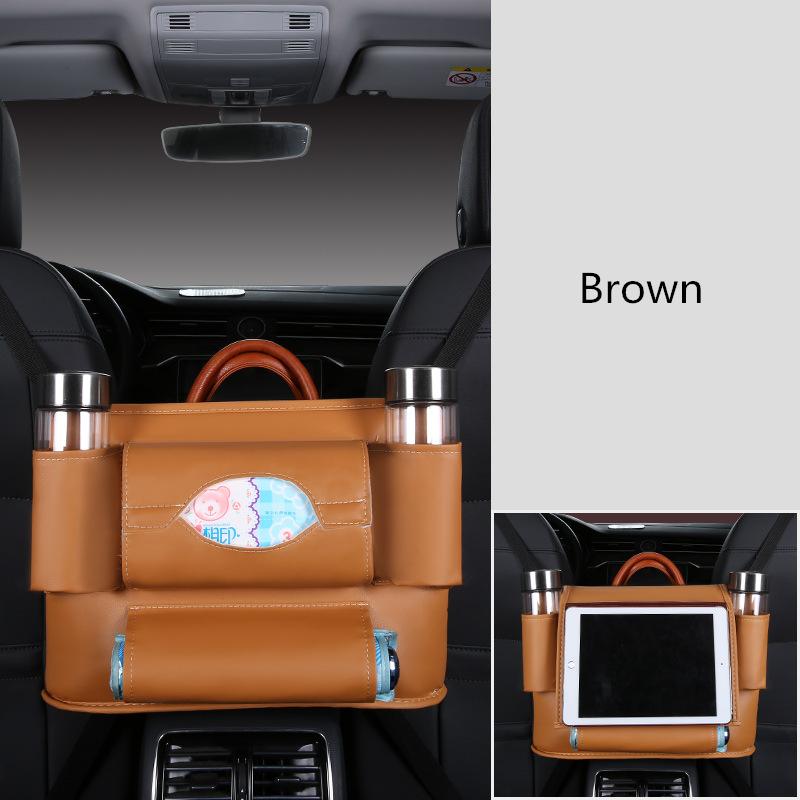 Автомобильная задняя подвесная Сумка-пакет для хранения сидений органайзер для багажника авто аксессуары интерьер PU кожаный Органайзер дл...(Китай)