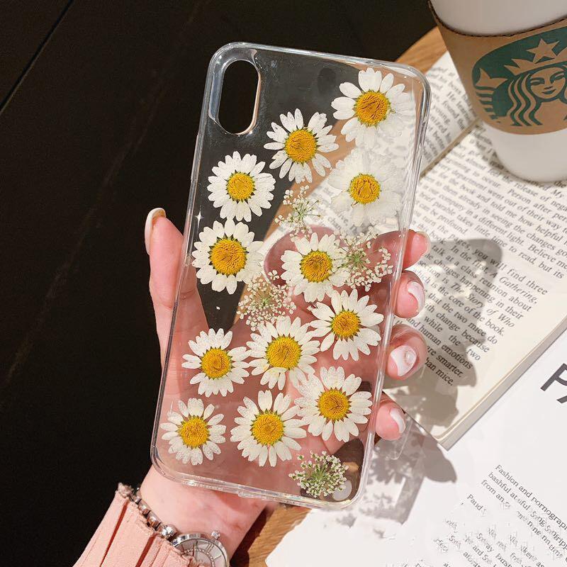 Для Iphone 11 Pro X 7 Прозрачный цветочный чехол для телефона Iphone 11 Pro X Max XR XS 6 6s 7 8 Plus Мягкий силиконовый чехол(Китай)