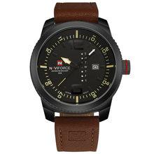 2017 Новый Элитный бренд naviforce Для мужчин Спорт Часы Для мужчин кварцевые часы человек армии Военное Дело кожа наручные часы Relógio masculino(Китай)