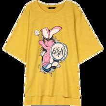 Женская футболка с принтом ELFSACK, желтая Повседневная футболка с полурукавами в стиле Харадзюку, в Корейском стиле, лето 2020(China)
