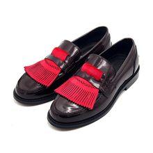 Английские мужские лоферы с кисточками; 2020; Повседневная обувь из натуральной кожи без шнуровки; Роскошные мужские весенние коричневые веч...(Китай)