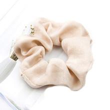 Модные Сатиновые резинки ярких цветов, мягкие эластичные резинки для волос для девочек, аксессуары для волос, держатель для конского хвоста...(Китай)