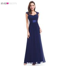 Розовые платья для подружек невесты, 2020 Ever Pretty, 08834, длинные, шифоновые, 4 цвета, недорогие платья для свадебной вечеринки, Платья для подружек...(Китай)