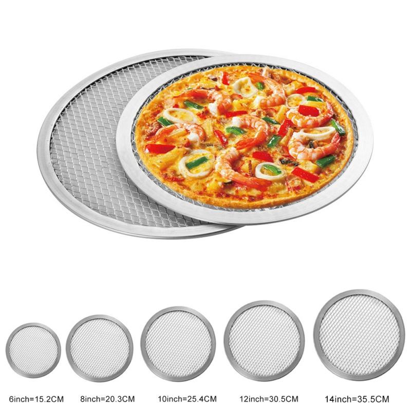 6 8 10 12 14 Inch Aluminum Round Pizza Stones Cake Baking Tray Diy Pizza Screen Baking Tray Metal Net Pizza Tools Aliexpress