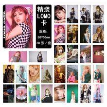 30 шт./компл. Kpop BLACKPINK Фотокарта для фанатов коллекция JISOO JENNIE ROSE LISA фото открытки в альбом HD Печать Высокое качество K-pop(China)
