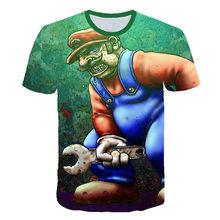 Детские футболки с 3D принтом Марио Луиджи, костюм, летние футболки для девочек и мальчиков, верхняя одежда, детская одежда, повседневные фут...(Китай)