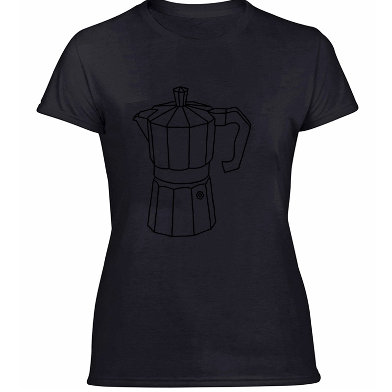 Дизайнерская забавная Повседневная футболка для приготовления кофе эспрессо, Мужская футболка из 100% хлопка с круглым вырезом, Мужская футб...(Китай)