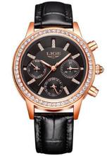 LIGE модные женские часы, женские часы от ведущего бренда, роскошные часы из нержавеющей стали с календарем, спортивные кварцевые часы для жен...(Китай)