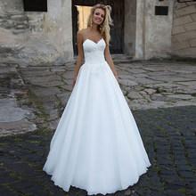 SoDigne сексуальное свадебное платье трапециевидной формы белое кружевное платье с аппликацией милое платье для невесты в стиле бохо свадебно...(Китай)