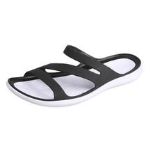 2020 г., летняя женская прозрачная обувь Шлепанцы на плоской подошве женские мягкие модные пляжные шлепанцы женские Вьетнамки zapatos de mujer 6016(Китай)