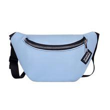 Поясная Сумка в форме почки, модная женская однотонная поясная сумка на молнии 2020, Повседневная нагрудная сумка, новая вместительная сумка ...(Китай)