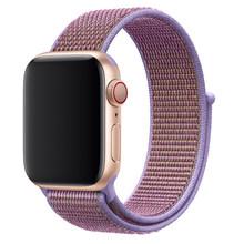 Ремешок для часов, спортивный из дышащего нейлона, для Apple Watch 1/2/3/4/5, 38/40/42/44 мм(Китай)