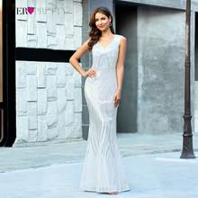 Блестящие платья для выпускного вечера в стиле русалки, длинные платья с блестками EP00618 с двойным v-образным вырезом, пикантные вечерние пла...(Китай)