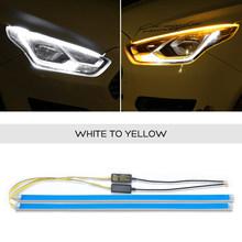 2x для Ford Focus MK2 MK3 MK5 Fiesta Fusion Mondeo Светодиодная лента наклейка на фары автомобиля DRL дневные ходовые огни указатели поворота(Китай)