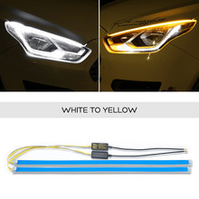 2x Светодиодная лента для KIA Sportage KX5 Stinger Forte Stonic Ceed Picanto, дневные ходовые огни DRL, сигнальная лампа для поворота(Китай)