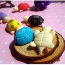 Ластики Корейская Милая Канцелярия разноцветные животные маленькая черепаха моделирование Ластик Школа 2 шт. случайных(Китай)